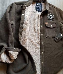 Matix Shirt Jacket Sherpa Lined Green Men's Small